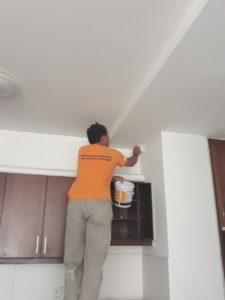 sơn lại trần , tường căn hộ chung cư