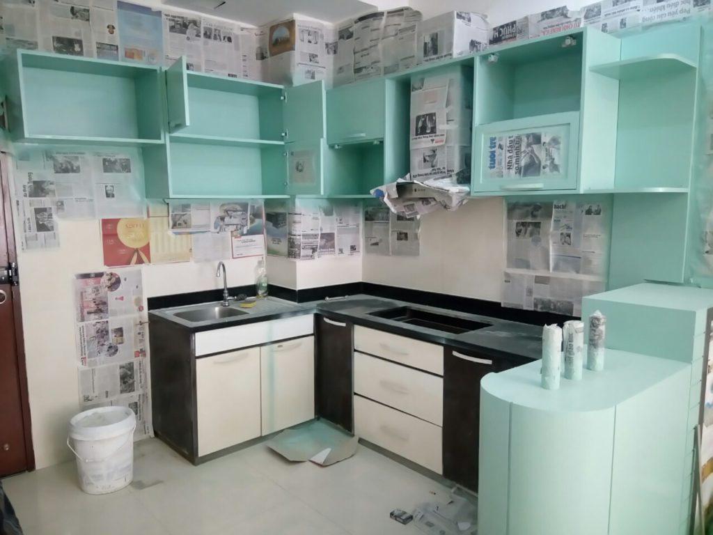sơn sủa tủ bếp