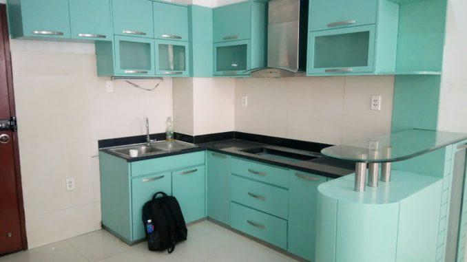 sơn sửa lại tủ bếp